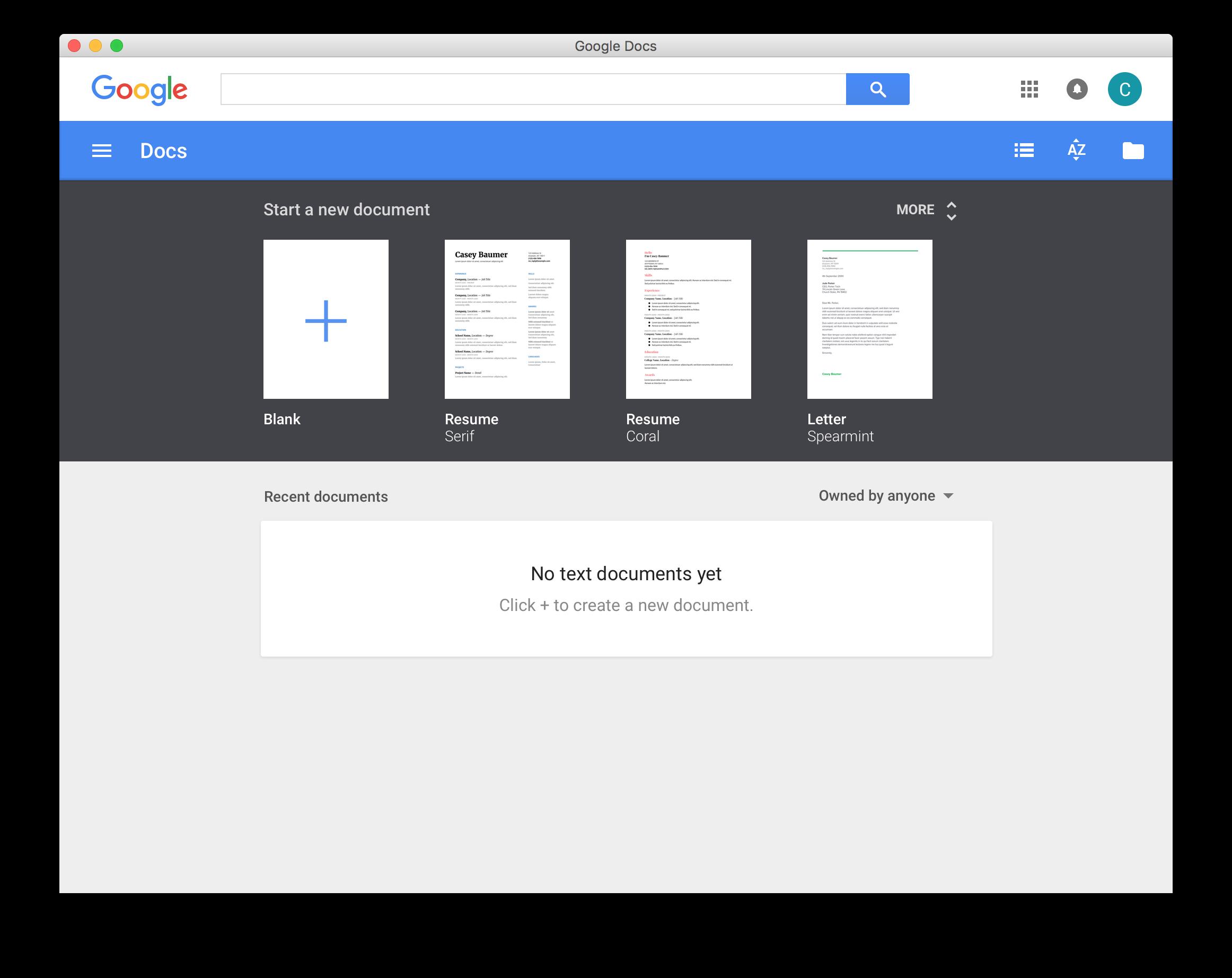 Google Docs Desktop Osx By Chriskol